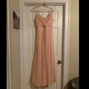 NEW BHLDN Blush/Light Pink Bridesmaid Dress Size M
